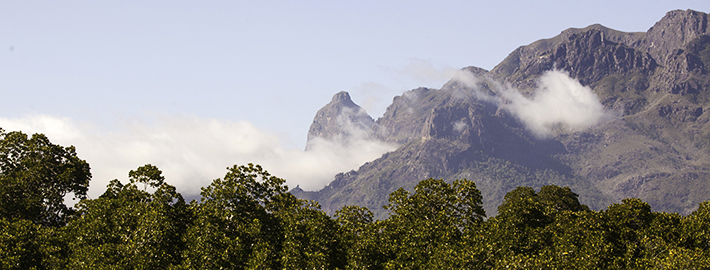 Rugged mountains on Hinchinbrook Island