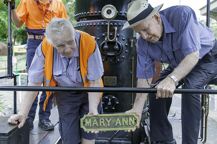 Mary Ann's historic name plate donated to Whistlestop museum